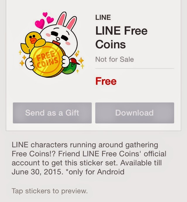 Line stickers community free line free coins set sticker and japanline releasing line characters running around gathering free coins friend line free coins official account to get this sticker set ccuart Images