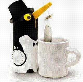 Pinguim chá.