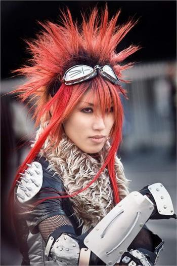 laide dune perruque ou en réalisant la même coupe de cheveux que celle du personnage , et leur maquillage. On appelle les pratiquants des cosplayers.