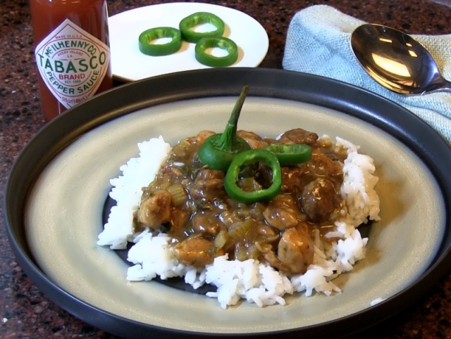 recipe: paul prudhomme chicken and sausage gumbo [1]
