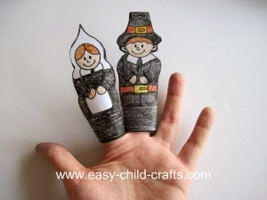 Finger Puppet Thanksgiving Crafts for Children