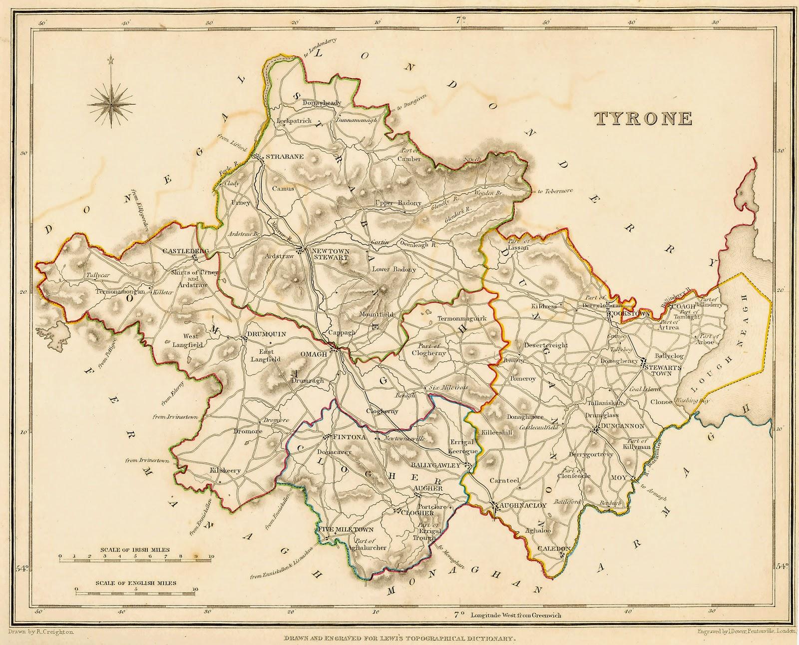 Fadó Fadó Irish Memory Tyrone Dialectal Words Originating In The - Irish language map