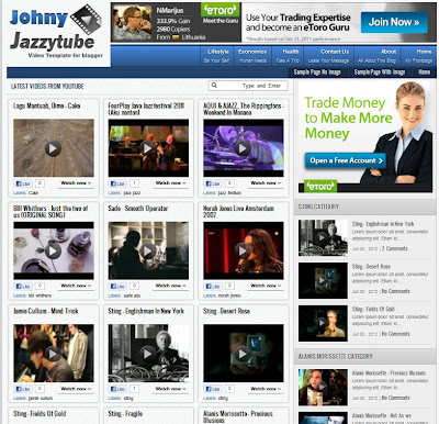 Jazzytube Video Blogger Template