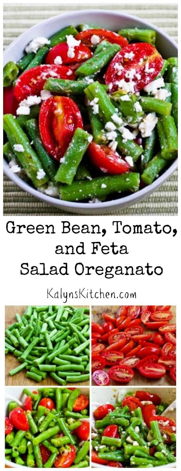 Green Bean, Tomato, and Feta Salad Oreganato [from KalynsKitchen.com]