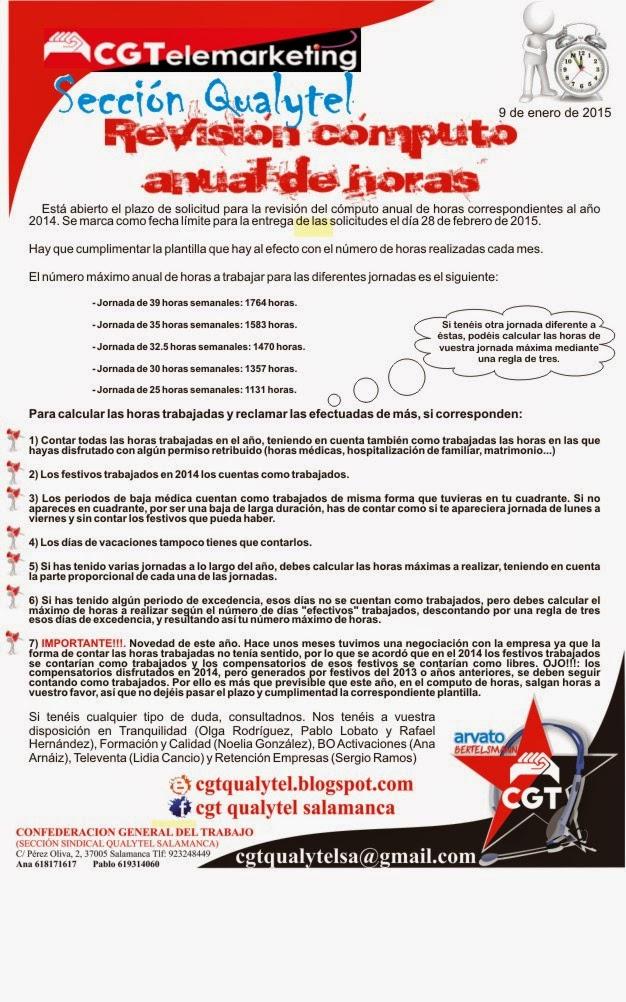 CGT Qualytel: Comunicado CGT Qualytel Arvato Salamanca: Revisión ...