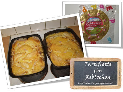 Tartiflette queso reblochon, horno Francia receta francesa