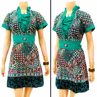 DB3228 Mode Baju Dress Batik Modern Terbaru 2013