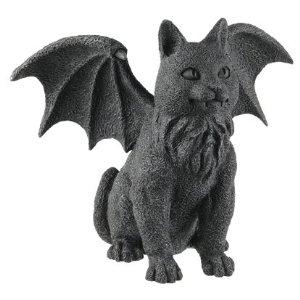 Winged Cat Gargoyle Statue Figurine