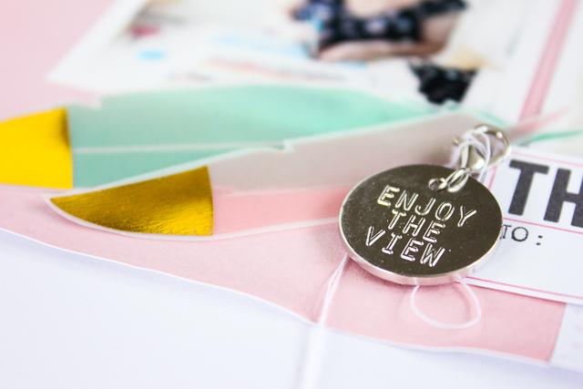 Scrapbooking Layout | Janna Werner | Gold und Pastell