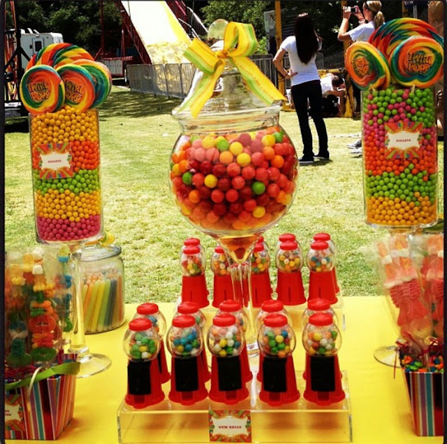 Candy bar de colores