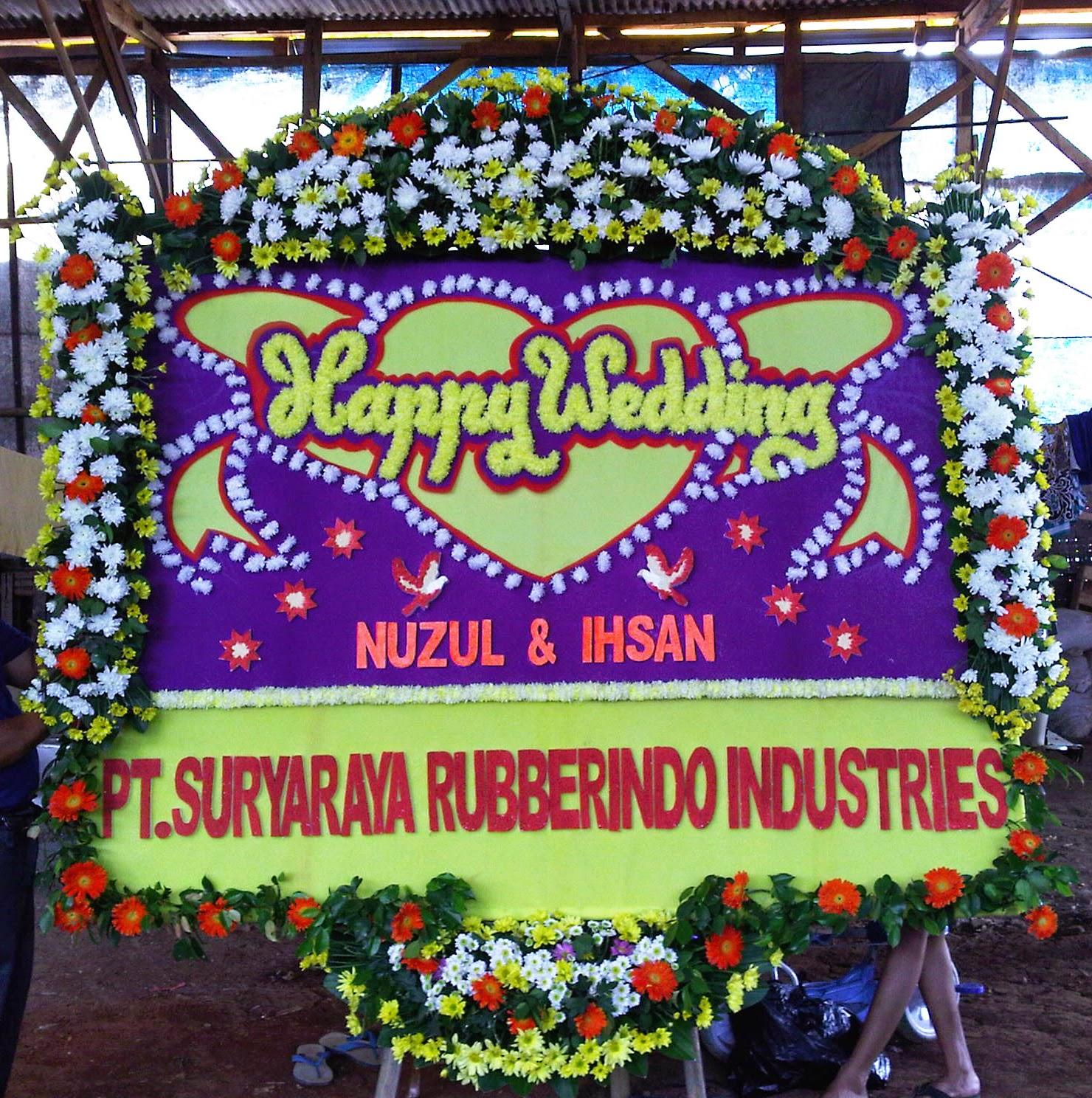 Toko Bunga Jakarta - Bunga papan happy wedding