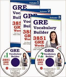 Buy GRE Vocabulary Builder 3 Volumes with 2 MP3 CDs Rs. 280 only at Amazon.