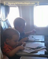 Using stickers to make pictures on tray tables