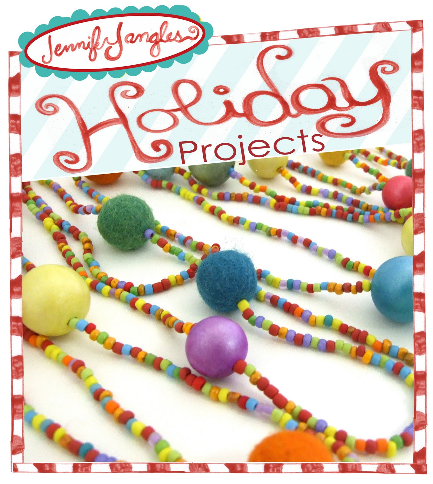 holiday project 6 bead garland jennifer jangles