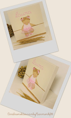 cuadro niña ballet