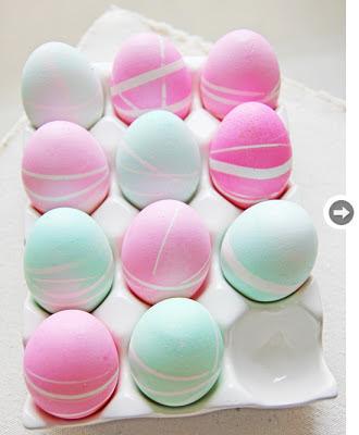 Huevos de colores neón