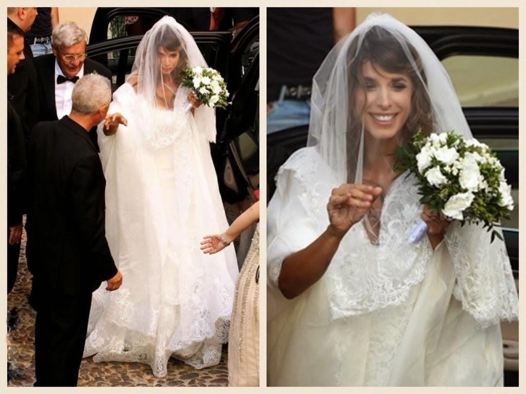 abiti da sposa vip, abito sposa elisabetta canalis