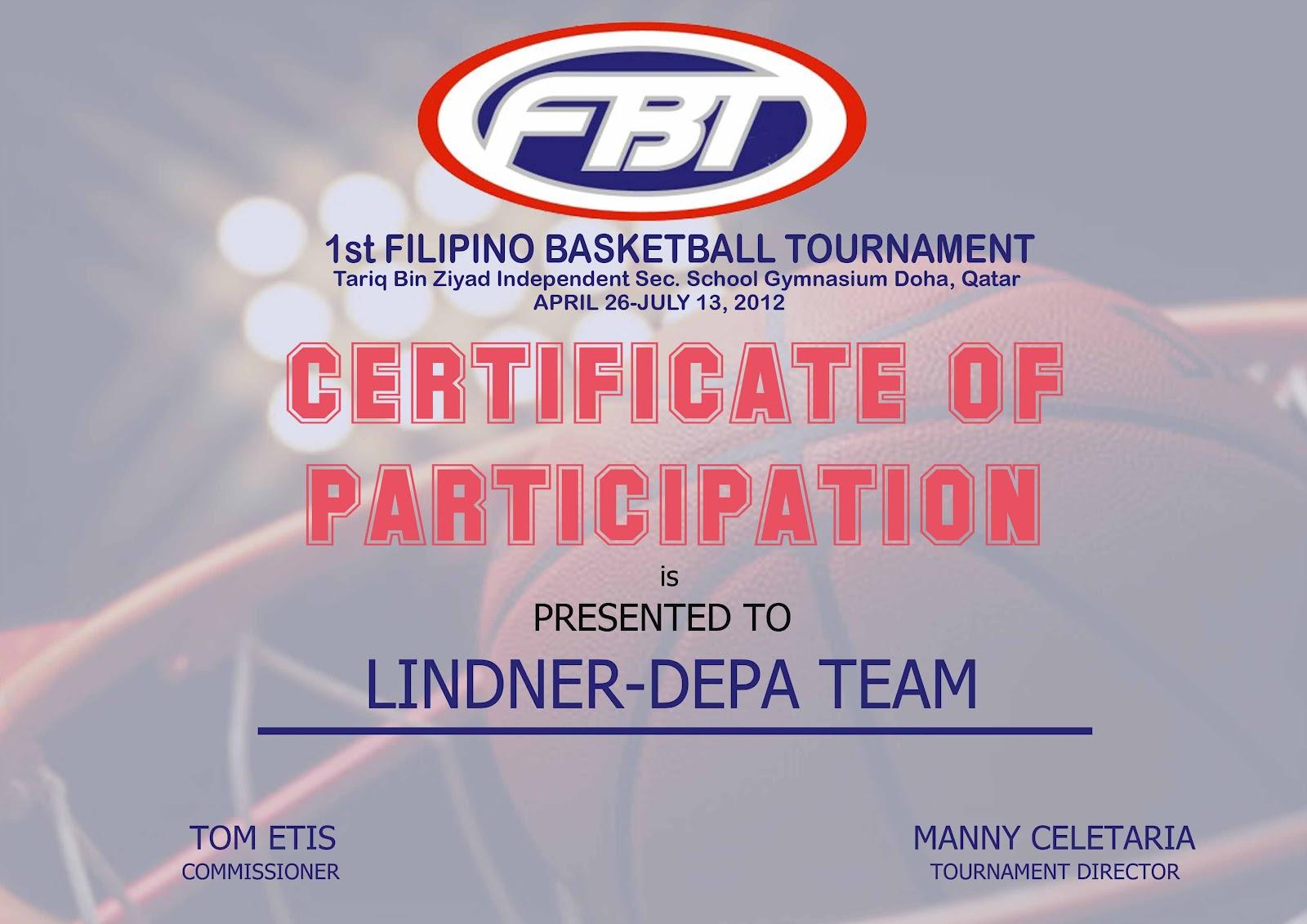 Basketball tournament certificate template image collections filipino basketball tournament certificate of participation all certificate of participation all teams posted by filipino basketball xflitez Choice Image
