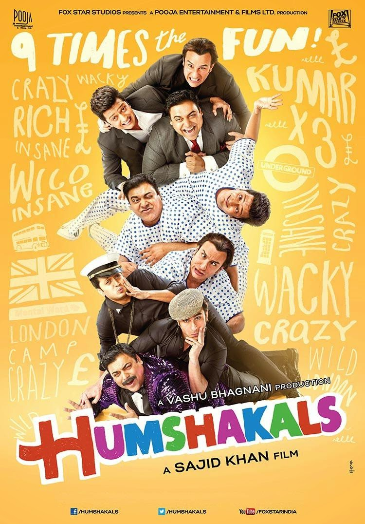 Watch Humshakals (2014) Non Retail DVDRip Hindi Full Movie Watch Online For Free Download