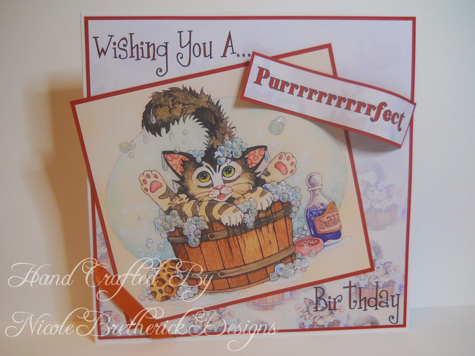 Nicole bretherick designs linda ravenscroft crazy cats nothing fancy today just a sweet and simple topper accompanied by some lovely faded out background paper from the cd a fitting sentiment m4hsunfo