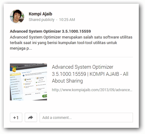 Share Postingan Blog Ke Google+