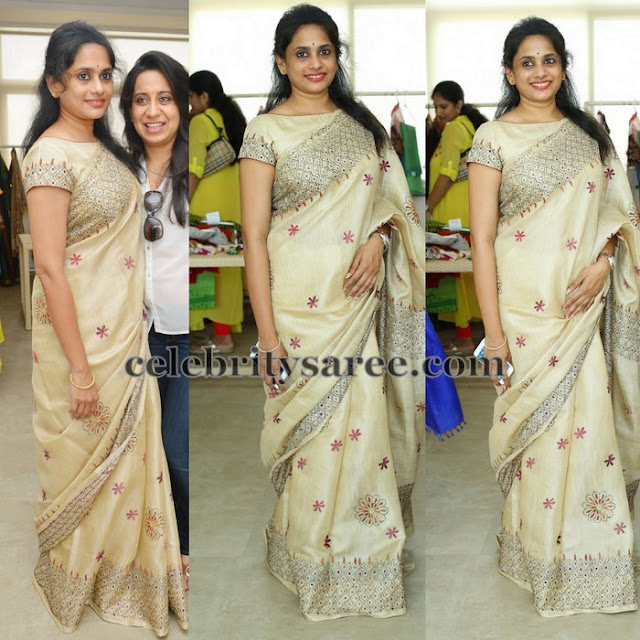 Off White Handloom Saree