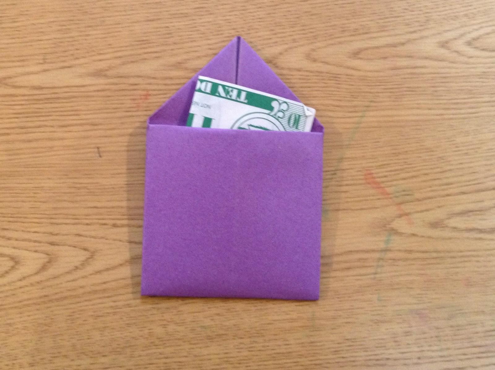 Evergreen Montessori House Simple Origami Envelope