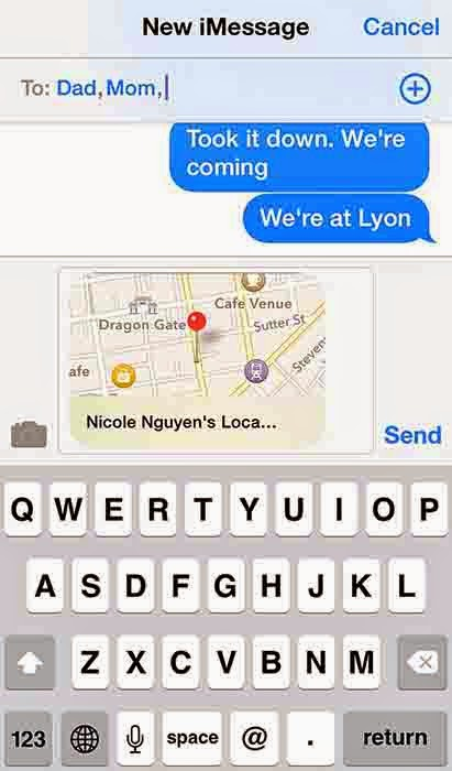 How to Send your Location in iMessage