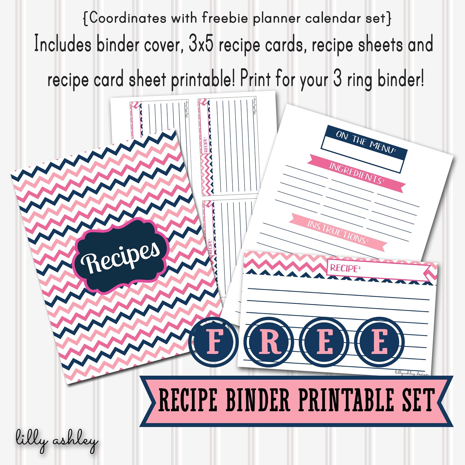 It is an image of Refreshing Free Printable Recipe Binder