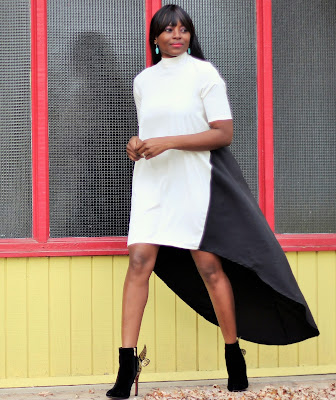 Edgy chic look : Holiday party outfit idea
