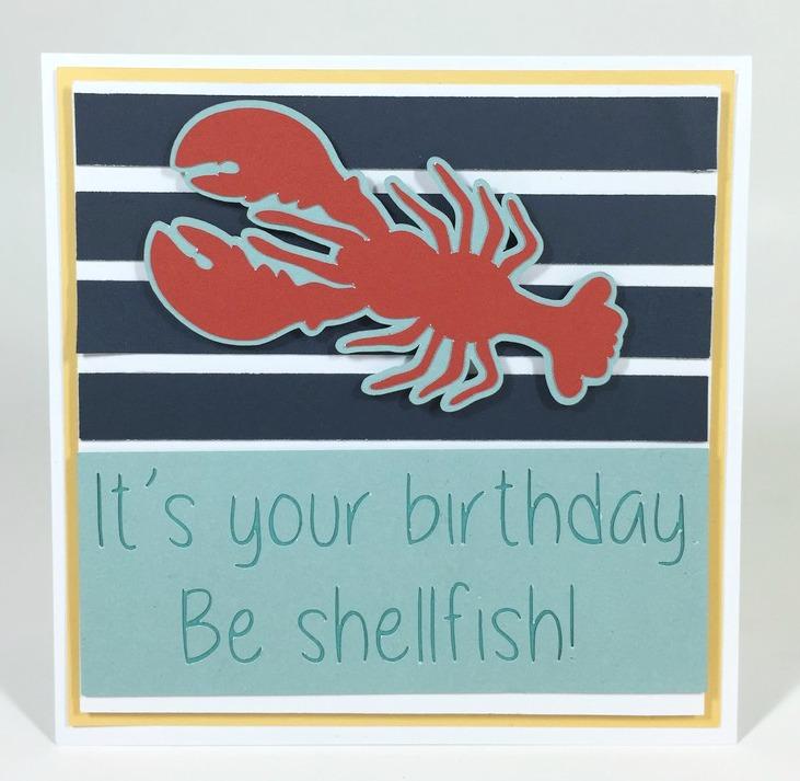 Courtney Lane Designs: Cricut Lobster Birthday Card