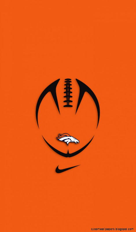 Denver broncos logo orange background wallpaper zoom wallpapers view original size voltagebd Choice Image