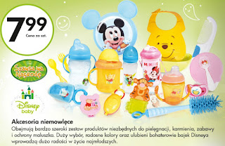 Akcesoria niemowlęce Disney Baby z Biedronki ulotka