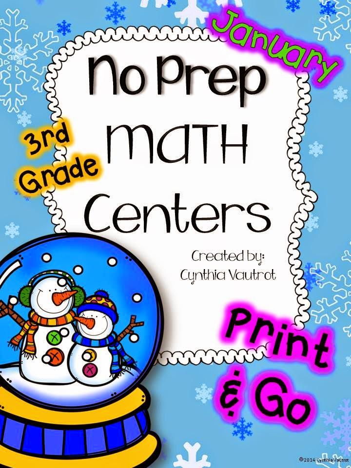 http://www.teacherspayteachers.com/Product/No-Prep-MATH-Centers-for-January-3rd-Grade-1614714/