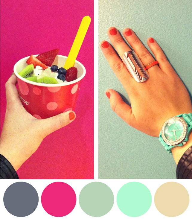 Color Schemes Inspired by Colorful Instagram Photos