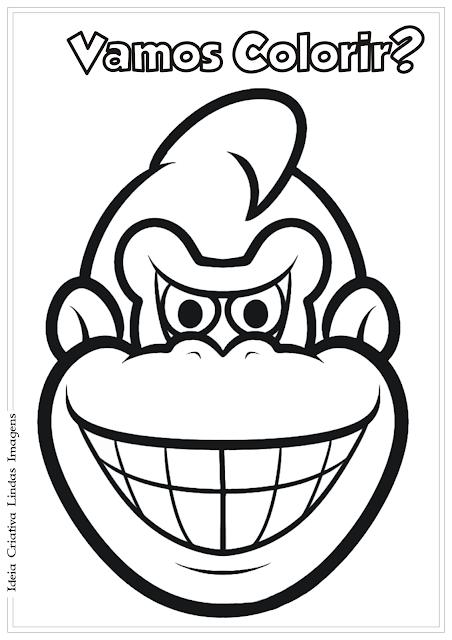 Donkey Kong desenho para colorir