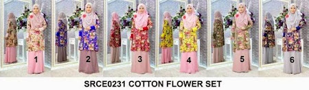 Top Flower Dipadankan Dengan Chiffon Skirt Pasti Memukau Pandangan