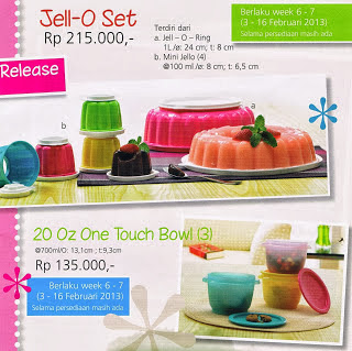 JELLY O SET TUPPERWARE