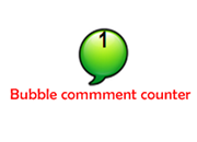 Adding a bubble comment counter in blogger