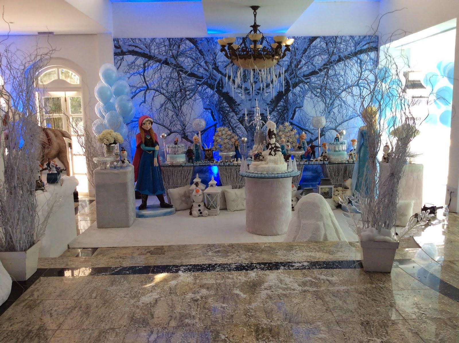 decoracao branca de neve andrea guimaraes:La Belle Vie Eventos: Personalização Frozen – Festa da Valentina