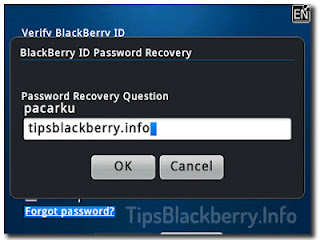 Mengatasi Lupa Password dan Username di Blackberry App world