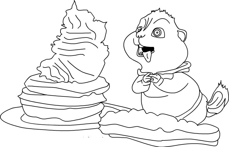 Halloween Coloring Pages: Alvin and Chipmunk free animal cartoon ...