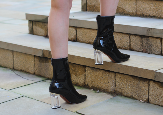uk highstreet dior perspex heel boot dupe blog