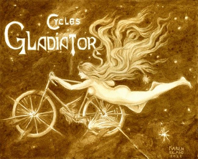 19-Gladiator-Cycles-Karen Eland-Vintage-Looking-Beer-and-Water-Paintings-www-designstack-co
