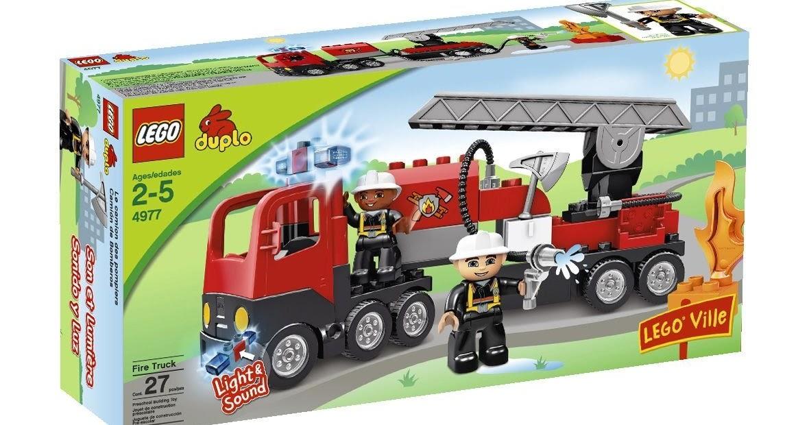 Lego Duplo Legoville Fire Truck 4977 Lego Duplo Legoville Fire