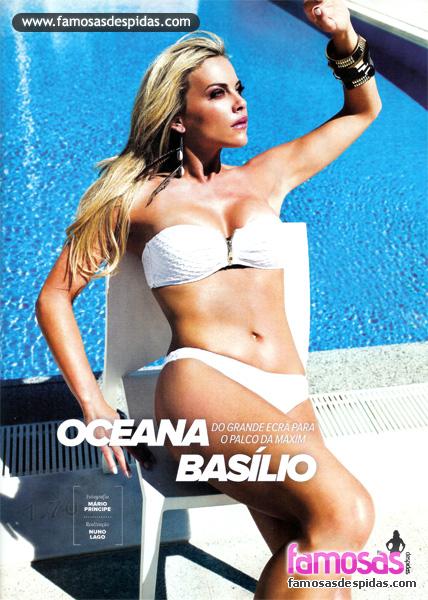 Oceana Basílio nua na Maxim Portugal