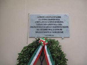Corleone ha ricordato Carlo Alberto Dalla Chiesa