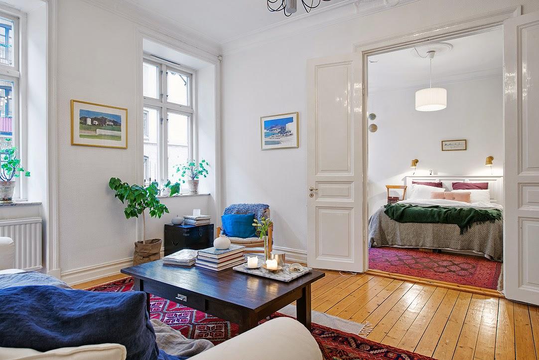 Decoraci n f cil alfombras persas y estilo nordico - Salones con alfombras ...