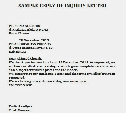 Inquiry letter 7 free doc download 6 letter of inquiry sample formal official and professional letter templates altavistaventures Image collections