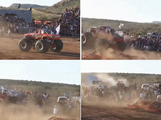 Monster truck hits crowd